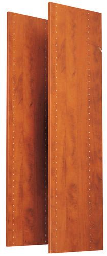 """$74 EASY TRACK - 72"""" Vertical Panels (2-pack), Natural Cherry at Menards. •Use with Corner Shelves (RS3003) or add panels to the Deluxe Closet (RB1460), or Hanging Tower (RV1472) 14""""W"""