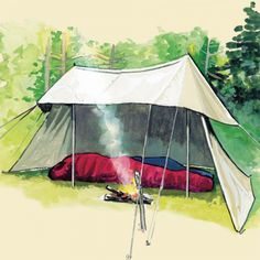 Frost River 352 Whelen Lean-to Tent drawing