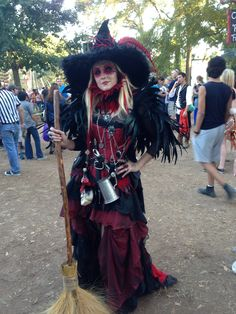 Red Texas Renaissance witch costume