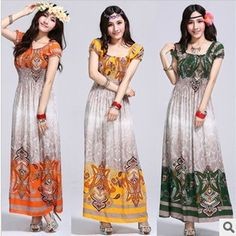 women's fashion summer bohemian style maxi dress 18.00