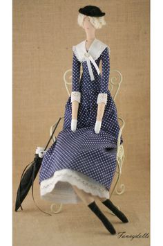 Art cloth doll Mary Poppins