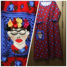 #pazen #elbise #frida #tasarım #benyaptım