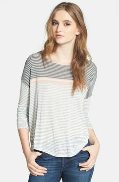 Soft Joie Mix Stripe Tee available at #Nordstrom