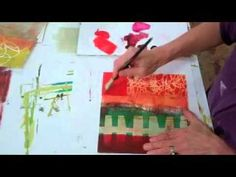 Monoprint Collage 6a - YouTube