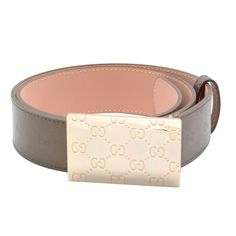 Buy Designer Gucci Golden Buckle Brown Leather Belt On Sale Bridal Jewelry, Silver Jewelry, Brown Leather Belt, Gucci Men, Belt Buckles, Belts, Jewelery, White Gold, Sparkle