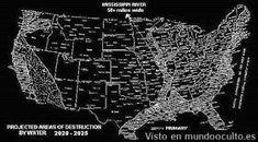 Viajero del tiempo revela el mapa de los Estados Unidos después de catástrofes