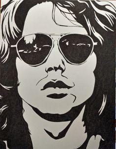 Jim+Morrison+Sharpie+Drawing+by+allenspearsart+on+Etsy,+$25.00