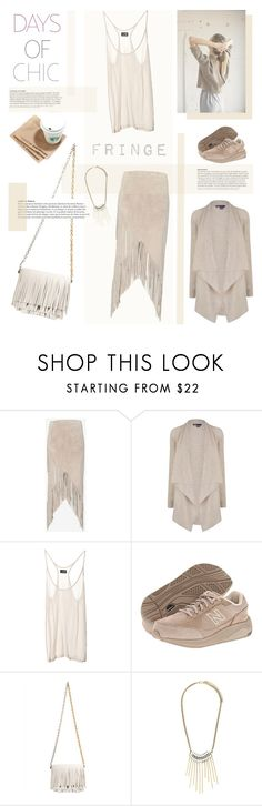 """""""FRINGE"""" by junglover ❤ liked on Polyvore featuring Intermix, Vince, Cheap Monday, New Balance, Proenza Schouler, fringe, fringebag, polyvoreeditorial and polyvorecontest"""