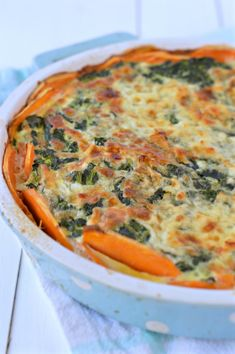Sweet potatoes Crusted Spinach Quiche :http://www.sweetashoney.co.nz/sweet-potatoes-crusted-spinach-quiche/