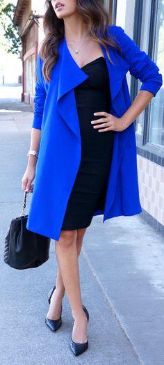 Blue trench coat. I need a new fall coat.