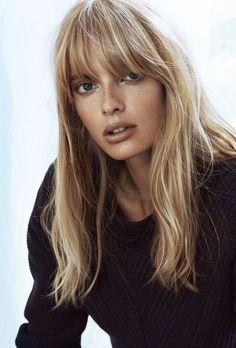 Julia Stegner Bangs hair trend fall / winter 2016 - Fashionchick