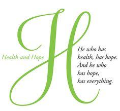 Health and Hope...