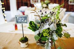 Rustic Wedding Table Centerpiece- love everything about this.