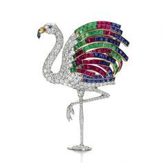The Duchess of Windsor, Wallis Simpson's Cartier Flamingo brooch.