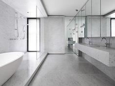 SHROUDED HOUSE || Bathroom with one single material