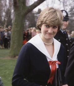 March 27, 1981: Prince Charles and Lady Diana Spencer visited the policemen who'll guard their future home in Gloucestershire.