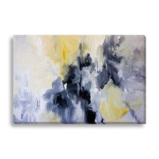 Abstract Bad Moon Rising by Lisa Fabian Graphic Art on Wrapped Canvas