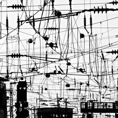 Synaptic Overload by Florian Schmidt, art work White Photography, Street Photography, Urban Life, Photo Series, Textures Patterns, Oeuvre D'art, Utility Pole, Monochrome, Photoshop