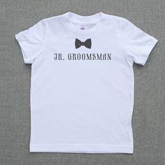jr. groomsman for ring bearer