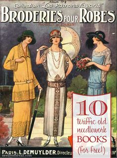 A fabulous collection of hand embroidery and needlework books from the late 1800's - early 1900's, all available to download free to your computer. You'll find lots of hand embroidery instruction, embroidery patterns, needlework project ideas, and historical information in these books. Definitely worth adding to your embroidery library!