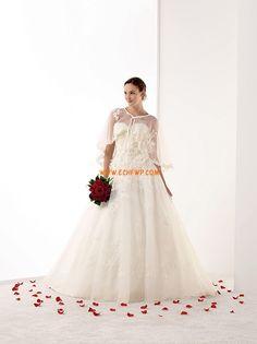 Corte Princesa Verano Apliques Vestidos de Novia 2014