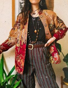Hippie Outfits, Retro Outfits, Grunge Outfits, Vintage Outfits, Casual Outfits, 70s Inspired Fashion, 70s Fashion, Look Fashion, Fashion Outfits