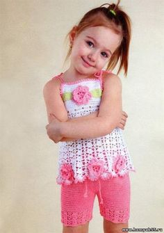 Вязание крючком шорты для девочки