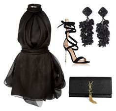 """Styled by Candice"" by candicegeorge on Polyvore featuring Brandon Maxwell, Gianvito Rossi, Yves Saint Laurent and NOIR Sachin + Babi"