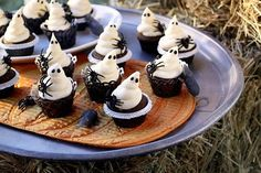 white chocoate frosted ghostie cupcakes with Devils food cakes#Repin By:Pinterest++ for iPad#