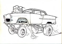 1936 Chevy Hot Rod Cars Coloring Pages Kids Play Color