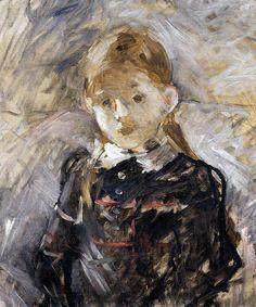 """Berthe Morisot, """"Little Girl with Blond Hair"""""""