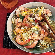 Marinated Shrimp Salad from MyRecipes.com #myplate #protein #vegetable