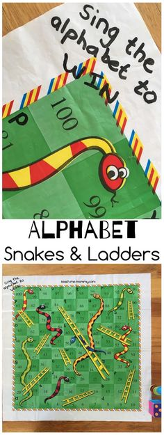 Alphabet Snakes & Ladders, a literacy twist on a popular game! Alphabet Activities, Early Literacy, Learning Games, Literacy Activities, Kids Learning, Activities For Kids, Teaching Abcs, Teaching The Alphabet, Learning Letters