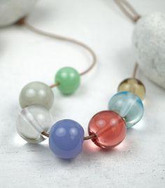 Contemporary Jewelry | Hand Blown Glass | Murano Glass | Beads | Transparent | By Melanie Moertel www.melaniemoertel.com