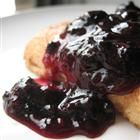 """Blueberry Sauce - """"Delicious, warm blueberry sauce which is fabulous on pancakes, waffles, cheesecake or ice cream! Fresh or frozen blueberries work equally well."""""""