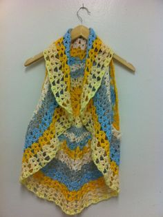 Hippie Vest / multicolor Vest / hand made crochet Vest  by NARELO, $48.00