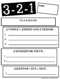 Non Fiction. You can use this easy formative assessment for reading lessons. Reading Strategies, Reading Skills, Teaching Reading, Reading Comprehension, Reading Workshop, Guided Reading, Reading Logs, Writer Workshop, Guided Math