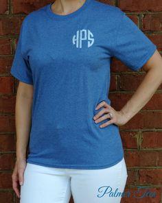 SALE Monogrammed Short Sleeve T-Shirt by PalmerTees