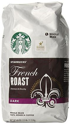 Starbucks French Roast Whole Bean Coffee, 40 Ounce : Grocery & Gourmet Food Coffee Bar Home, Coffee Club, Coffee Pods, Hot Coffee, Iced Coffee, Coffee Drinks, Coffee Beans, Coffee Label, Coffee Packaging