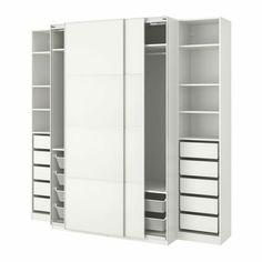 Pax Corner Wardrobe, Ikea Wardrobe, Pax Planner, Tall Cabinet Storage, Locker Storage, Trouser Hangers, Clothes Rail, White Stain