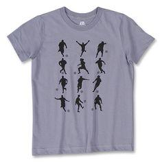 Soccer Figure Youth T-Shirt (Gray) - WorldSoccerShop.com