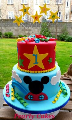 birthday party cake mickey mouse cake by alll cakes amp cake decorating 1797