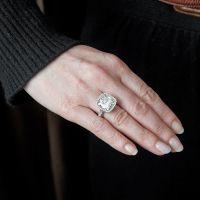Antique Cushion Cut Diamond Platinum Ring - Fourtane dream holy crap, if only it wasn't $305k..