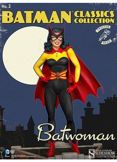 Batman Classic Collection Kathy Kane Batwoman Maquette Strictly Limited to 250 pieces Include: Classic Comic Cover Numbered Certificate Hand Numbered Backstamp Batman Comic Art, Batman Comics, Batman And Superman, Dc Comics, Batwoman, Batgirl, Batman Family, Classic Comics, Silver Age