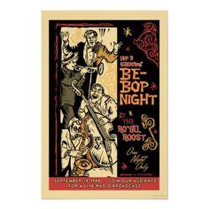 BeBop Music Vintage Jazz Print