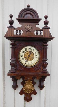 Antique Wall Clock Swinger Regulator Gustav Becker Silesia 19th Cen Walnut