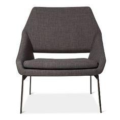 Lounge Chair Gray/Black - Modern by Dwell Magazine