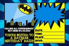 Batman Free Printable Invitations Batman Birthday Printables