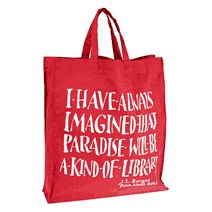 J L Borges library bag on British Library