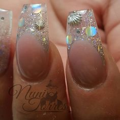 Here are some hot nail art designs that you will definitely love and you can make your own. You'll be in love with your nails on a daily basis. Fancy Nails, Cute Nails, Pretty Nails, Gel Nail Art, Acrylic Nails, Nail Nail, Coffin Nails, Aquarium Nails, Sea Nails